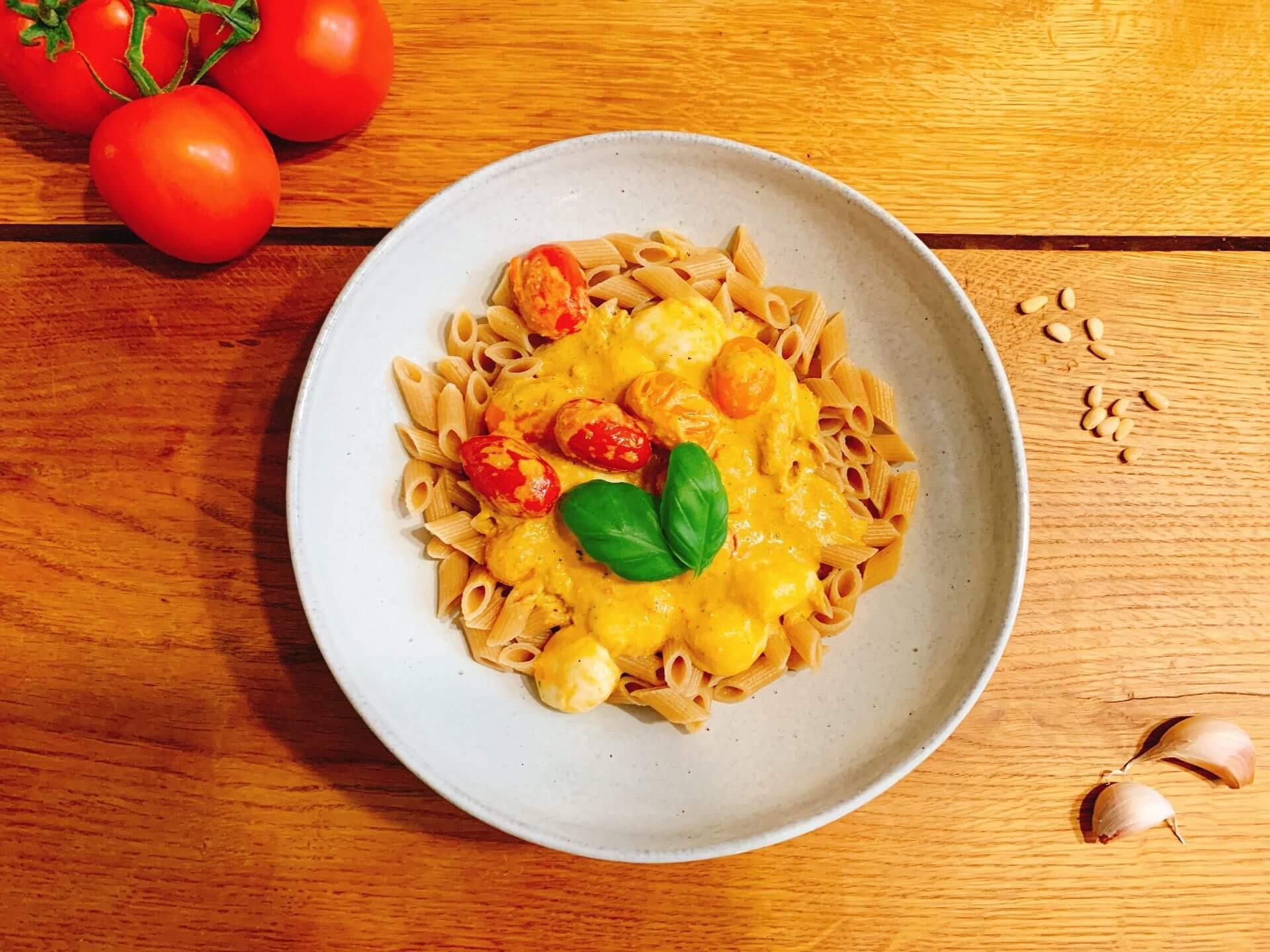 Penno mozzarella pesto tomaat