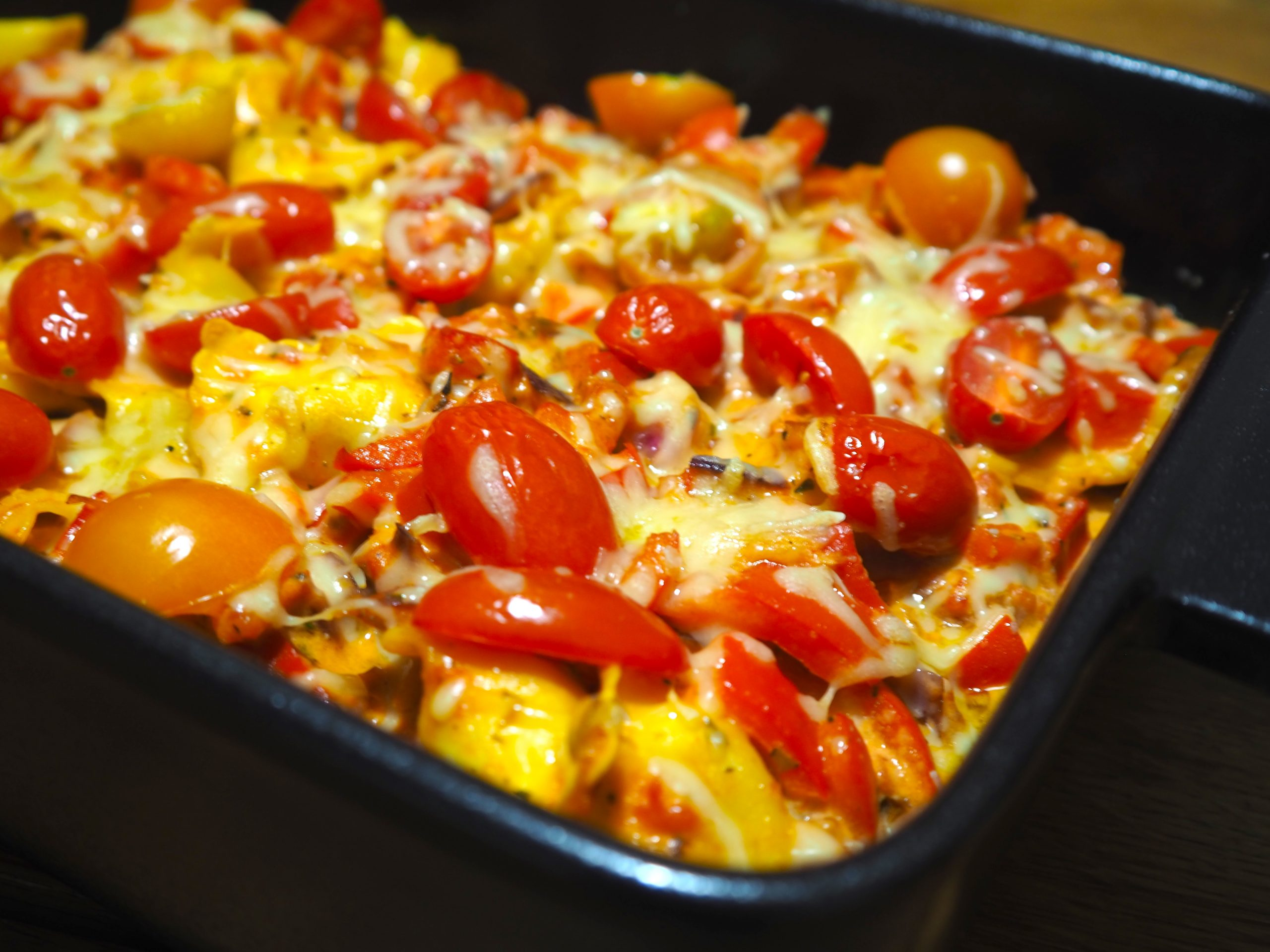Ravioli- mascarpone ovenschotel