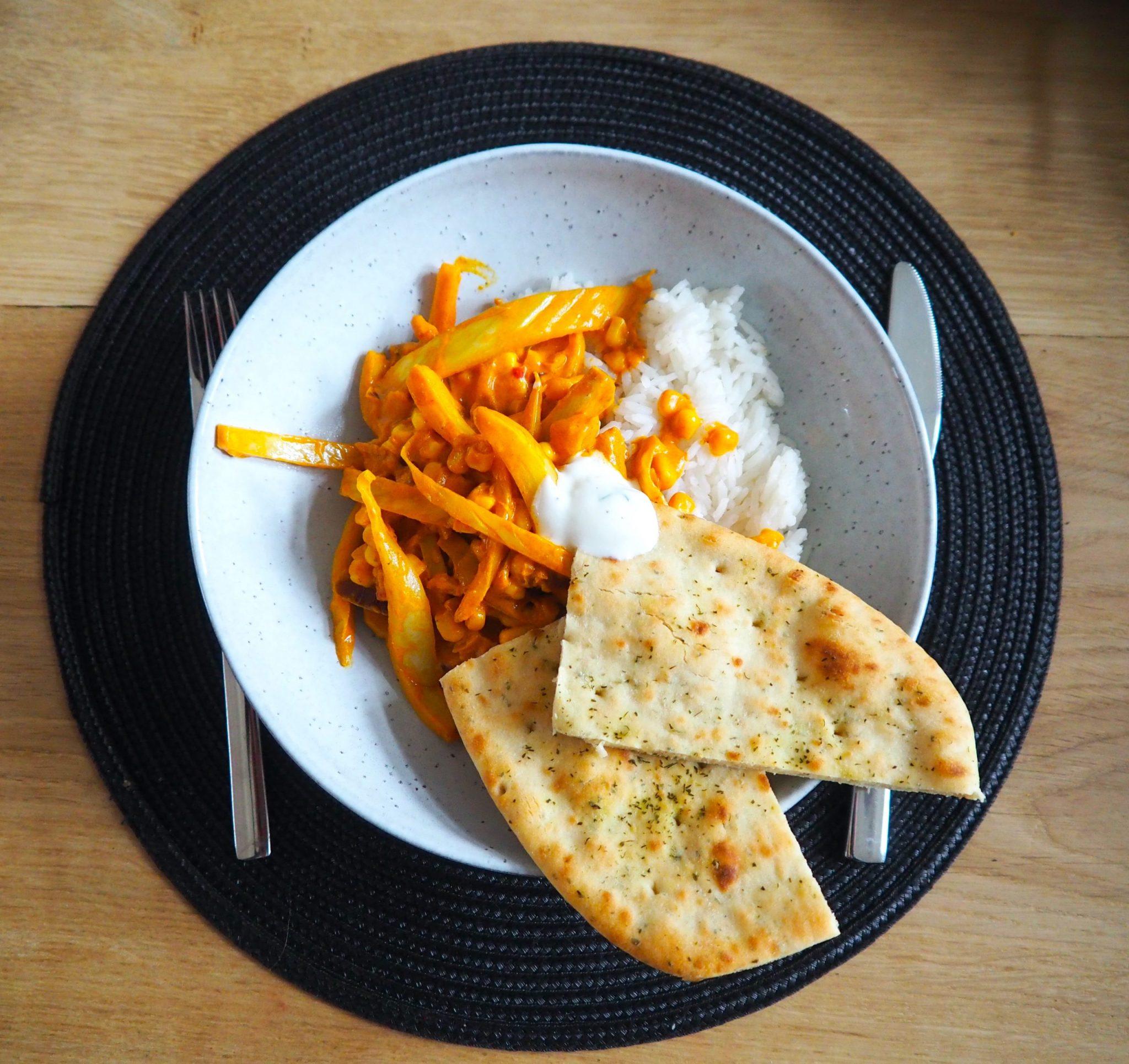 Curry met venkel en maïs